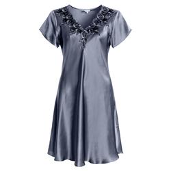 Lady Avenue silke nattkjole Dueblå - Lady Avenue