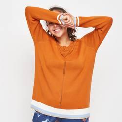 Adia strikket genser Orange - ADIA