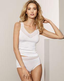 Speidel trøye med bred blonde Hvit - Speidel
